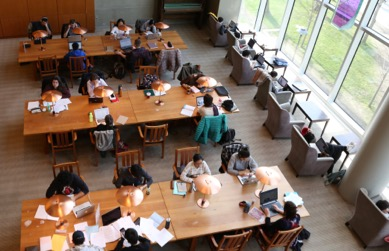 Students study at UBC