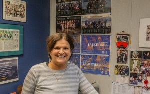 Deb Humond, UBC basketball women's coach in her office