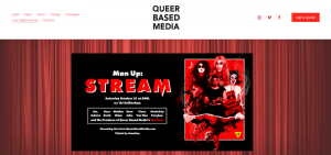 Screenshot of Queer Based Medias streaming site
