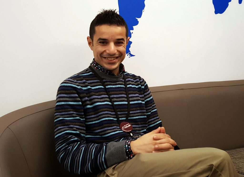 Mohammed Alsalah relaxes at ISSofBC's youth centre.