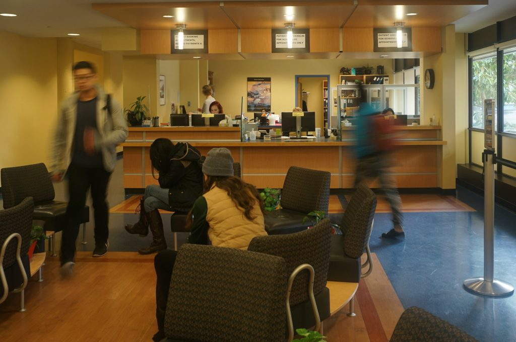 UBC students waiting for appointments at Student Health Services